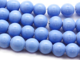 Periwinkle Irregular Round Glass Beads 9-10mm (JV1021)