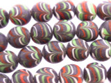 Purple Feathered Glass Beads 12-14mm (JV1122)