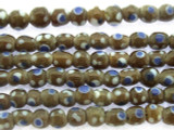 Brown w/Polka Dots Glass Beads 4-7mm (JV1047)