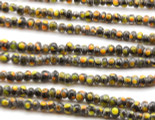 Black w/Polka Dots Glass Beads 4-6mm (JV1050)