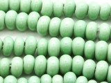 Celadon Green Rondelle Glass Beads 10-12mm (JV1169)