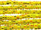 Chartreuse Graduated Heishi Glass Beads 4-8mm (JV1178)
