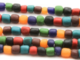 Assorted Indonesian Glass Beads 8-10mm (JV1181)
