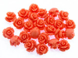 Pink Rose Resin Beads 10mm (RES527)