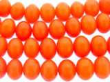 Orange Amber Rondelle Resin Beads 15mm (RES587)