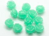 Celadon Green Rose Resin Beads 12mm (RES537)