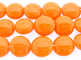 Orange Tabular Resin Beads 14mm (RES553)