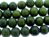 Forest Green Irregular Round Resin Beads 8-10mm (RES554)