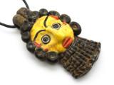 Phoenician Mask Face Pendant 83mm (CB503)