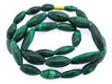 Malachite Graduated Ellipsoid Gemstone Beads 11-25mm (GS3361)