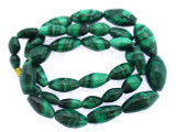 Malachite Graduated Ellipsoid Gemstone Beads 8-20mm (GS3363)