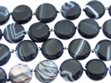 Banded Onyx Tabular Gemstone Beads 15mm (GS3320)