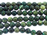 Turquoise Silver Line Jasper Round Gemstone Beads 6mm (GS3330)