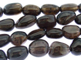 Smokey Quartz Nugget Gemstone Beads 12-18mm (GS3336)