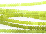 Lemon Lime Quartz Rondelle Gemstone Beads 4mm (GS3394)