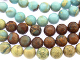Tri-Colored Aqua Terra Jasper Round Gemstone Beads 10mm (GS3346)