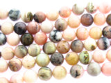 Rhodonite Round Gemstone Beads 8mm (GS3398)