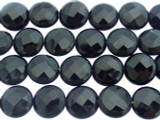 Onyx Round Tabular Gemstone Beads 15mm (GS3402)