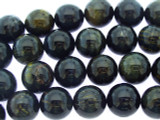 Blue Tiger Eye Round Gemstone Beads 14mm (GS3360)