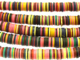Mixed Vinyl Disc Beads 4-6mm (VY187)