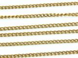 "Brass Plated Aluminum Curb Chain 3mm - 36""  (CHAIN10)"