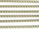"Antique Brass Plated Aluminum Curb Chain 4mm - 36""  (CHAIN11)"