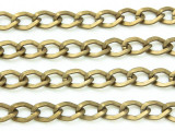 "Antique Brass Plated Aluminum Curb Chain 10mm - 36""  (CHAIN17)"