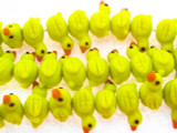 Yellow Duck Lampwork Glass Beads 21mm (LW1510)