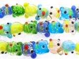Mouse Head Glass Beads 12mm (LW1513)