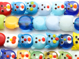 Cat Head Lampwork Glass Beads 12mm (LW1514)