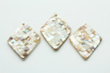 Natural Mother of Pearl Diamond Shell Pendant 66-70mm (AP1462)