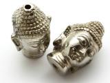 Silver Plated Brass Buddha Amulet 36mm (AP1471)