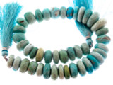 Faceted Sleeping Beauty Turquoise Beads 10-15mm (TUR158)