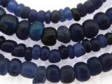 Old Jatim Majapahit Irregular Blue Glass Beads 1-5mm (RF658)