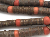 Metal Tube Beads 32-38mm - Nigeria (RF680)