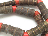 Metal Tube Beads 33-40mm - Nigeria (RF684)