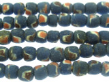 Blue w/Spots Sandcast Beads 7mm (SC862)