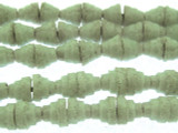 White Pyramid Sandcast Glass Beads 7mm (SC866)