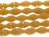 Butterscotch Yellow Pyramid Sandcast Beads 7mm (SC872)