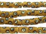 Yellow Painted Sandcast Beads 12-13mm (SC924)