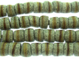 Gray Striped Sandcast Beads 10mm (SC894)