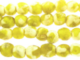 Yellow & White Recycled Glass Beads 10-11mm - Africa (RG588)