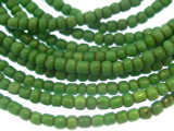 Green Glass Trade Beads 3-4mm (AT873)