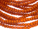 Orange Glass Trade Beads 3-4mm (AT874)