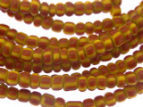 Red & Yellow Striped Glass Trade Beads 3-4mm (AT878)