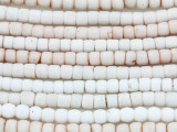 White Glass Maasai Trade Beads 5mm - Africa (AT882)