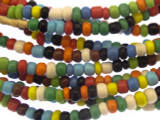 Assorted Glass Trade Beads 3-4mm (AT884)