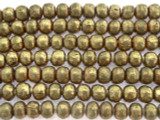 Brass Irregular Round Metal Beads - Ethiopia 6mm (ME343)