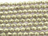 Silver Bicone Metal Beads - Ethiopia 5mm (ME353)