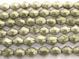 Silver Bicone Metal Beads - Ethiopia 6-8mm (ME354)